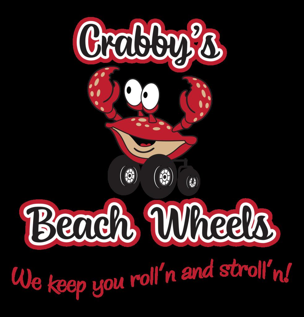 Crabby's Beach Wheels Logo Cocoa Beach FL Beach Wheelchair Rentals