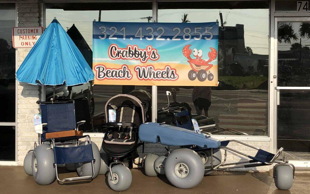 Crabbys Beach Wheels Location Front in Cocoa Beach FL