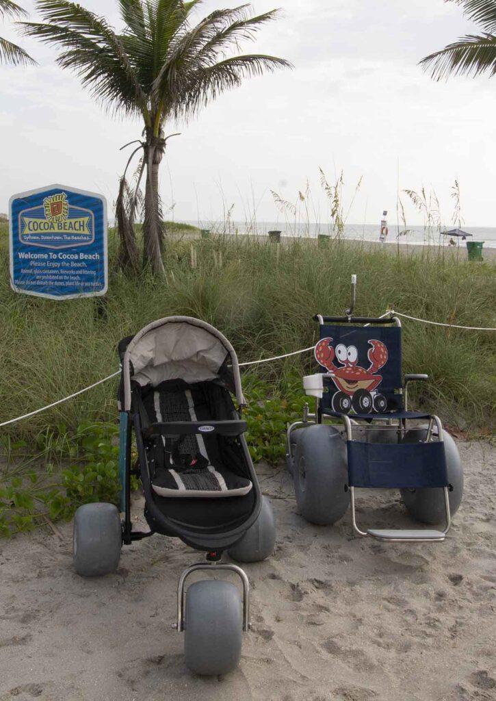 Beach Wheelchair & Beach Stroller Rentals Cocoa Beach FL Brevard County Beaches