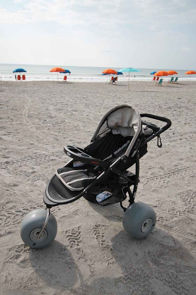 Beach Stroller - baby Beach Stroller Rental Cocoa Beach FL - Brevard County Beaches